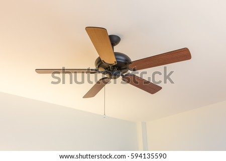 Ceiling fan blades stock images royalty free images vectors electric vintage ceiling fan mozeypictures Image collections