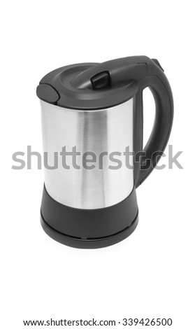 electric water cooker isolated white - stock photo