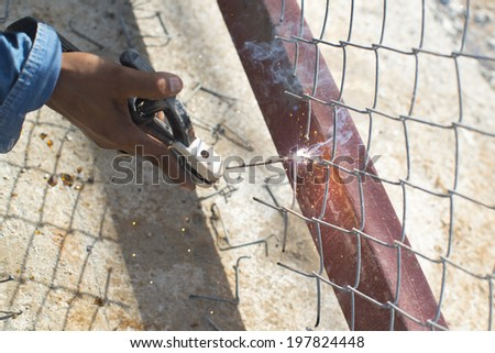 Electric welding - stock photo