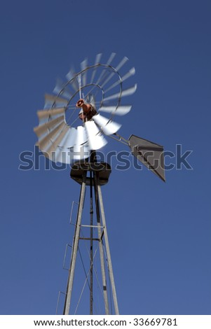 Electric Windmill - stock photo