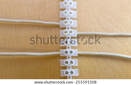 Electric wire with connectors - stock photo