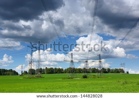 electric wires   close up against the sky