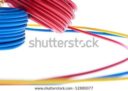 Electric Wires Red Yellow Dark Blue Stock Photo (Edit Now)- Shutterstock