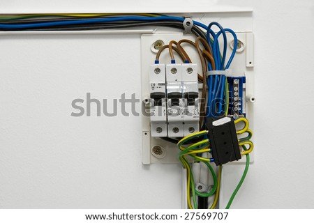 stock photo electric wiring and fusebox in a house 27569707 home fuse box stock images, royalty free images & vectors fuse box in house at fashall.co