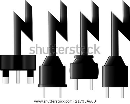 electric world - stock photo