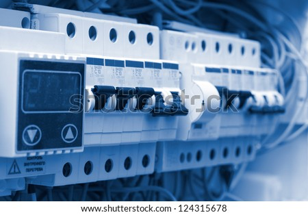 electrical board - stock photo