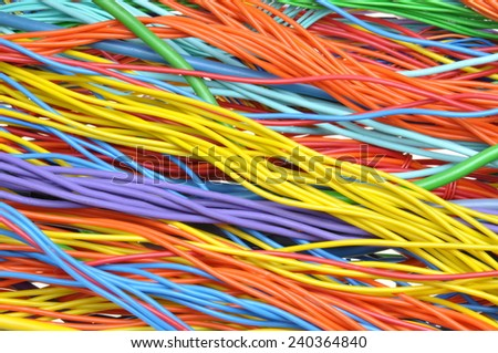 Electrical cables and wires  - stock photo