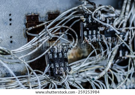 Electrical Chaos - stock photo