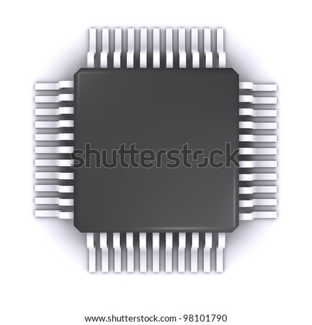 electrical chip - stock photo