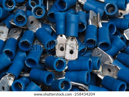 Electrical component kit Cable terminals - stock photo