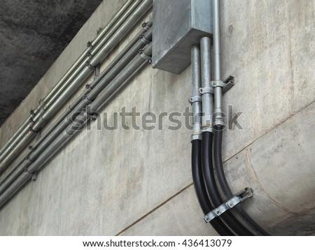 Electrical Conduit Pvc Conduit Stock Photo Royalty Free