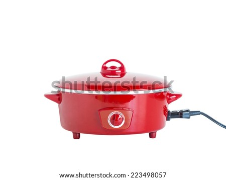 electrical cooking pan isolated on white background