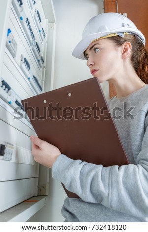 electrical inspector checking the panel
