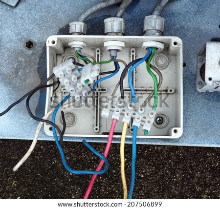 electrical junction box galvanized conduit pipe stock photo edit rh shutterstock com Electrical Junction Box Tubing Pictures Electrical Conduit Fittings