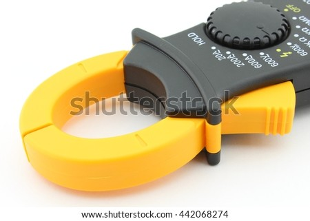 Electrical measurements clamp meter tester - stock photo