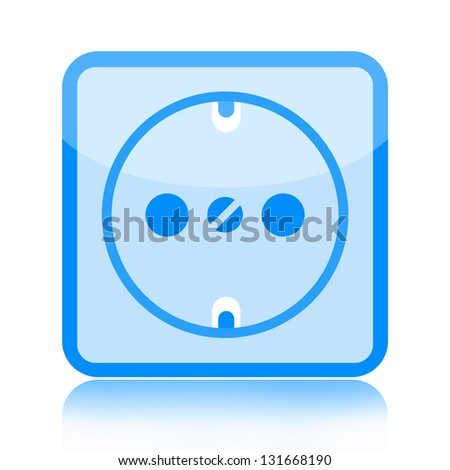 Electrical outlet icon - stock photo
