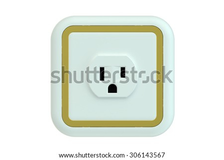 Electrical outlet isolated on white background