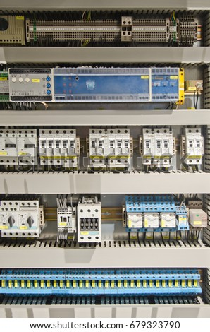 Electrical panel with automation for process control