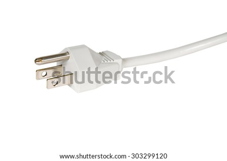 Electrical plug over white background. - stock photo