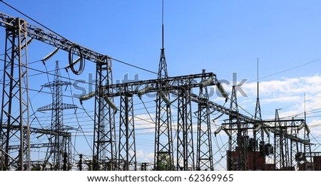 Electrical power station - stock photo