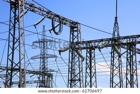 Electrical power station. - stock photo
