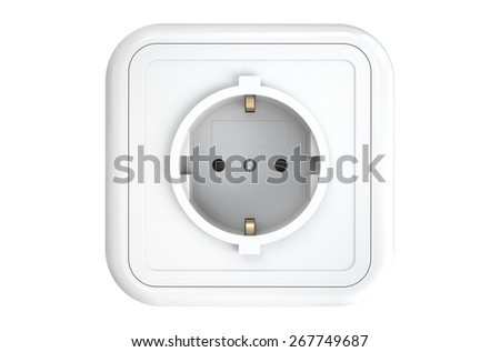 electrical socket isolated on white background