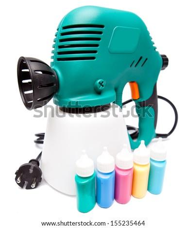 electrical spray gun - stock photo