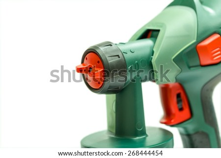 Electrical spray gun for coloration - stock photo
