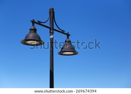 Electrical street lamp - stock photo