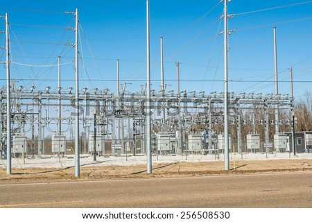 Electrical Substation. - stock photo