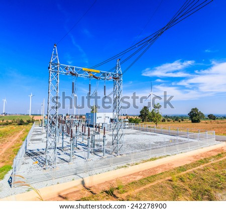 Electrical substation, Power Station - stock photo