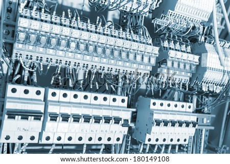 Electrical supplies toned - stock photo