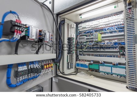 Electrical Switch Panel Switchgear Room Power Stock Photo (Royalty ...