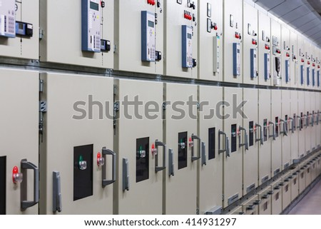 Electrical switchgear in substation