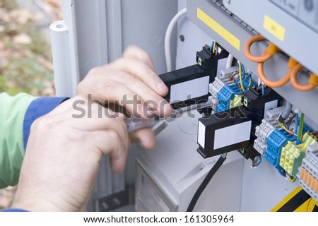 electrical system - stock photo