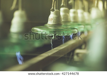 electrical tests. experiments with electricity - stock photo