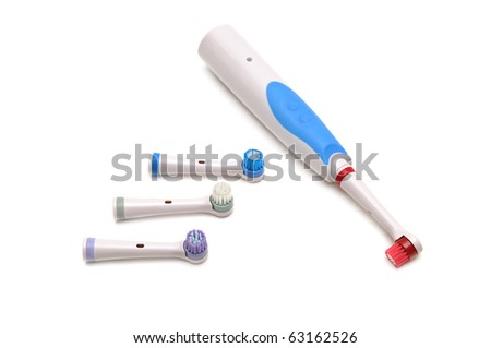 electrical toothbrush isolated on white background - stock photo