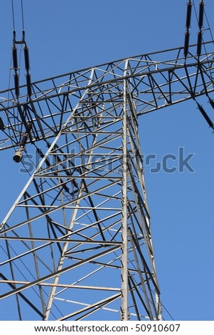 Electrical Tower against the blue sky