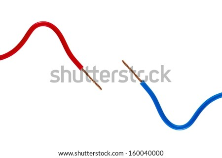 Electrical wiring - stock photo