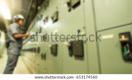 stock photo electrician testing industrial machine electrician builder engineer screwing equipment in fuse box 653174560 home fuse box stock images, royalty free images & vectors,Yellow House Fuse Box