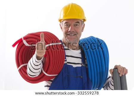 Electrician worker  - stock photo