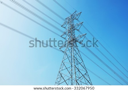 Electricity and blue sky in Thailand