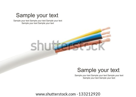 electricity cables - stock photo