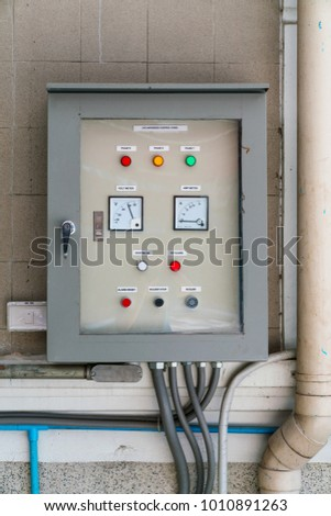 Electricity Control Panel Switchboard Stock Photo (Royalty Free ...
