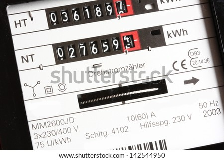 electricity costs - stock photo