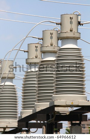 Electricity, electric equipment, - stock photo