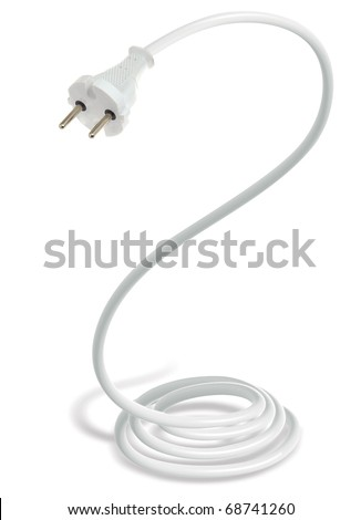 electricity plug snake - stock photo