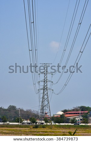 electricity pole / high power / high voltage