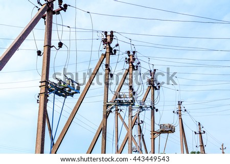 Electricity poles and wires