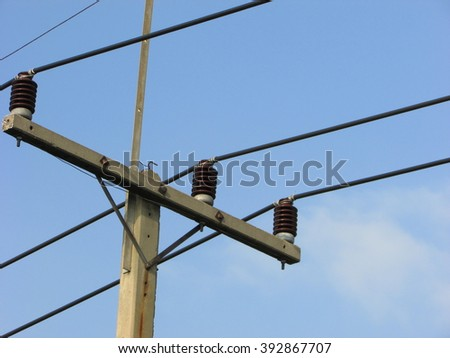 Electricity poles background sky
